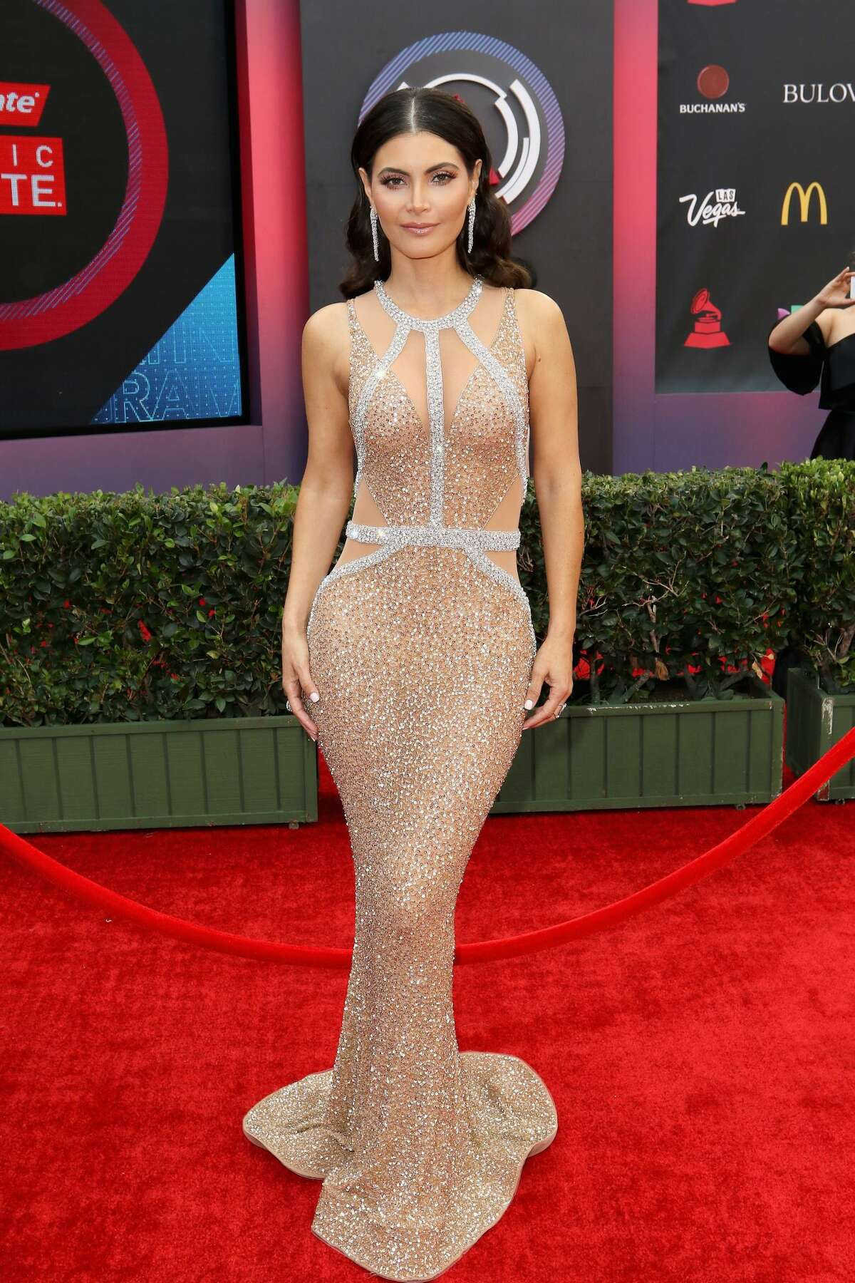 Chiqui Delgado's nude-color dress fit her small silhouette perfectly! If only all red carpet looks were this flawless.