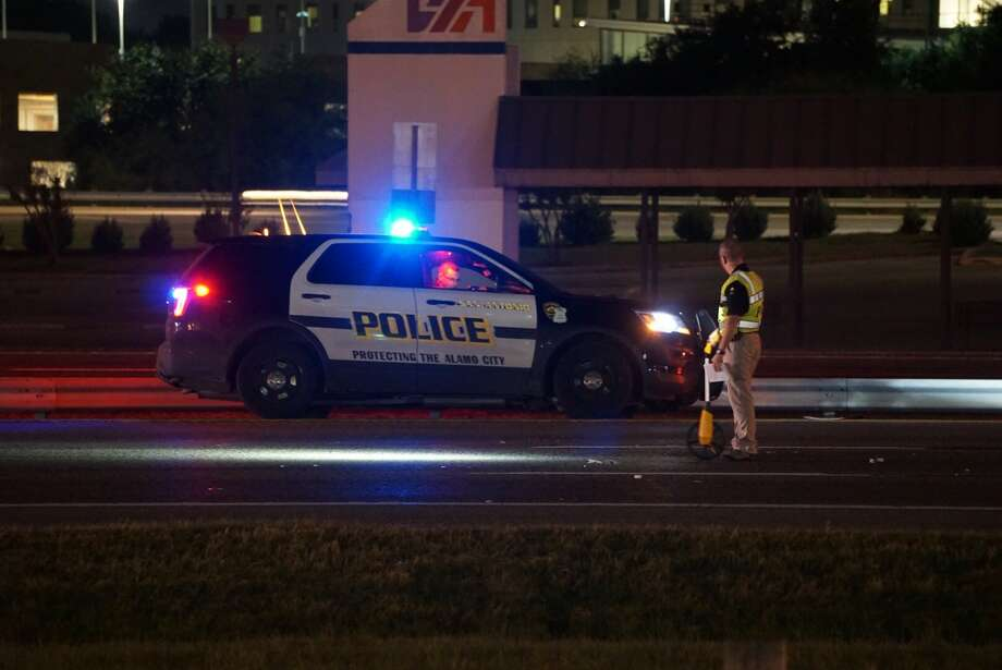 A man thought to be in his 20s was seriously injured when struck while crossing U.S. Highway 90 near West Military Drive Thursday, Nov. 16, 2017. Photo: Jacob Beltran