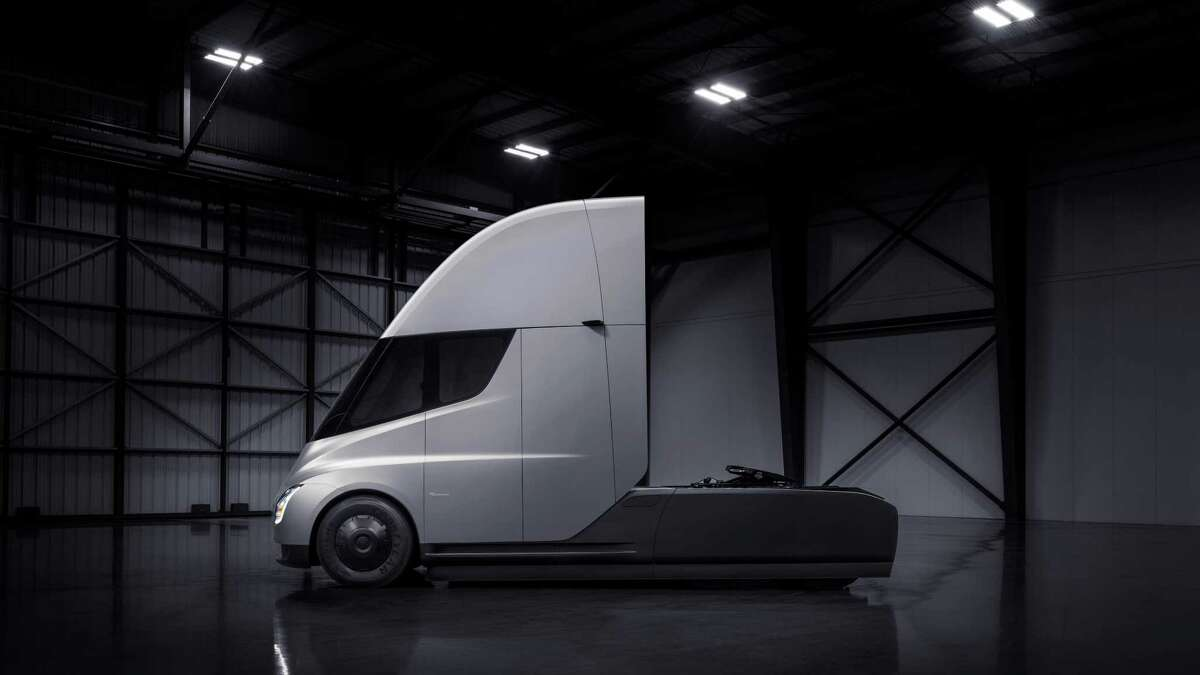The Tesla Semi, the company's first semitruck, was unveiled on Thursday, November 16, 2017 at the Tesla Design Center in Hawthorne, California.