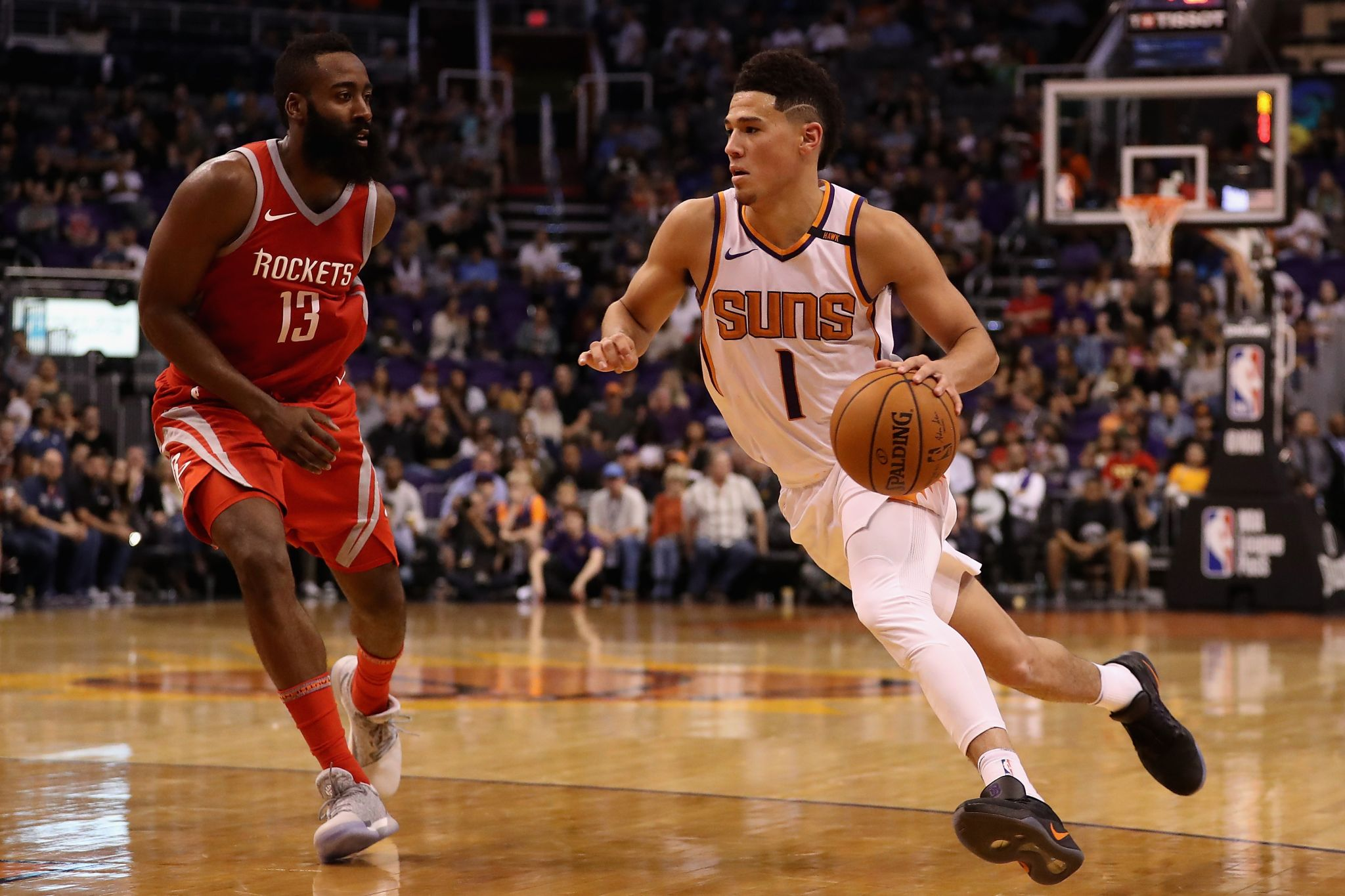 Suns' move of Devin Booker to point guard inspired by James Harden