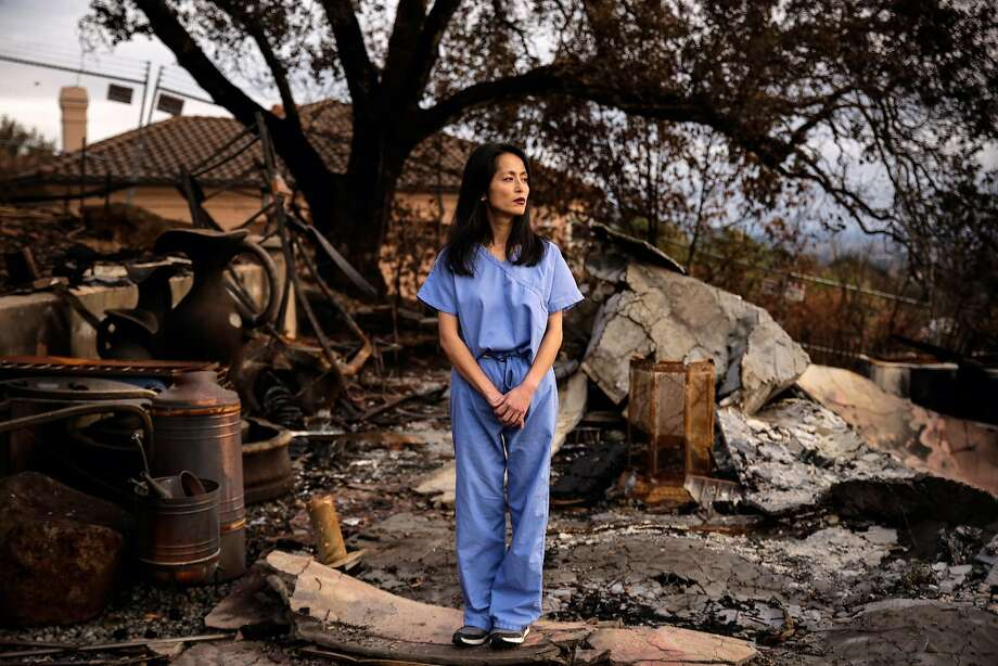 Dr. Stephanie Huang stands at the site of her home, which was destroyed in the Tubbs Fire in the Fountaingrove neighborhood of Santa Rosa last month. Photo: Gabrielle Lurie, The Chronicle