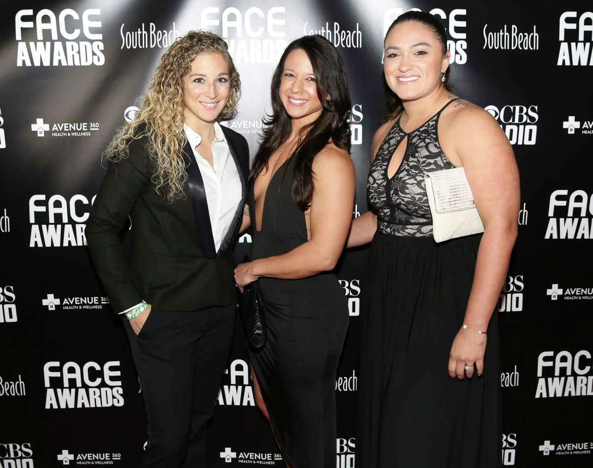 Attendees pose for a photo at the sixth annual F.A.C.E. Awards red carpet at South Beach nightclub on Thursday, Nov. 16, 2017, in Houston. The awards honored Houston's LGBT community in a variety of categories.
