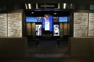 """The """"illumiNations"""" section is seen at the Museum of the Bible November 15, 2017 in Washington, DC. The 430,000-square-foot museum, with a purpose to invite people to engage with the Bible, will be opened to the public on November 17, 2017."""