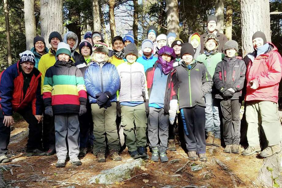 Boy Scouts in Darien's Troop 53 camped on Mount Everett in Massachusetts on Nov. 11. Photo: Contributed Photo