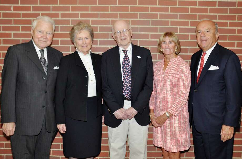 Waveny LifeCare Network honored volunteers and donors George and Carol Bauer, Jim Bach, and Linda and Jay Twombly on Oct. 24. Photo: Contributed Photo / New Canaan News