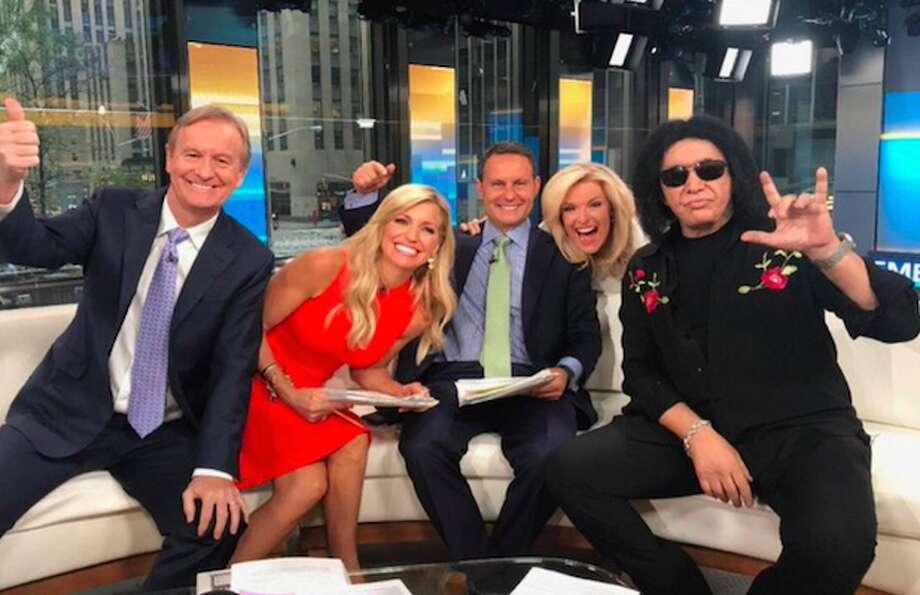 Gene Simmons, far right, on Fox News.