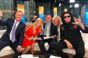 Gene Simmons, far right, on Fox News.