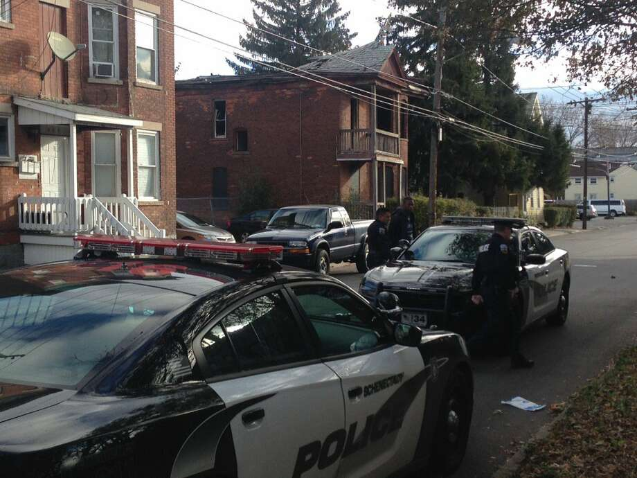 A man was taken to the hospital after a stabbing Friday morning at a home on Strong Street. Photo: Paul Nelson / Times Union