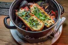The Mussels Marmande at Aquitaine in San Francisco, Calif., is seen on Saturday, March 29th, 2014.