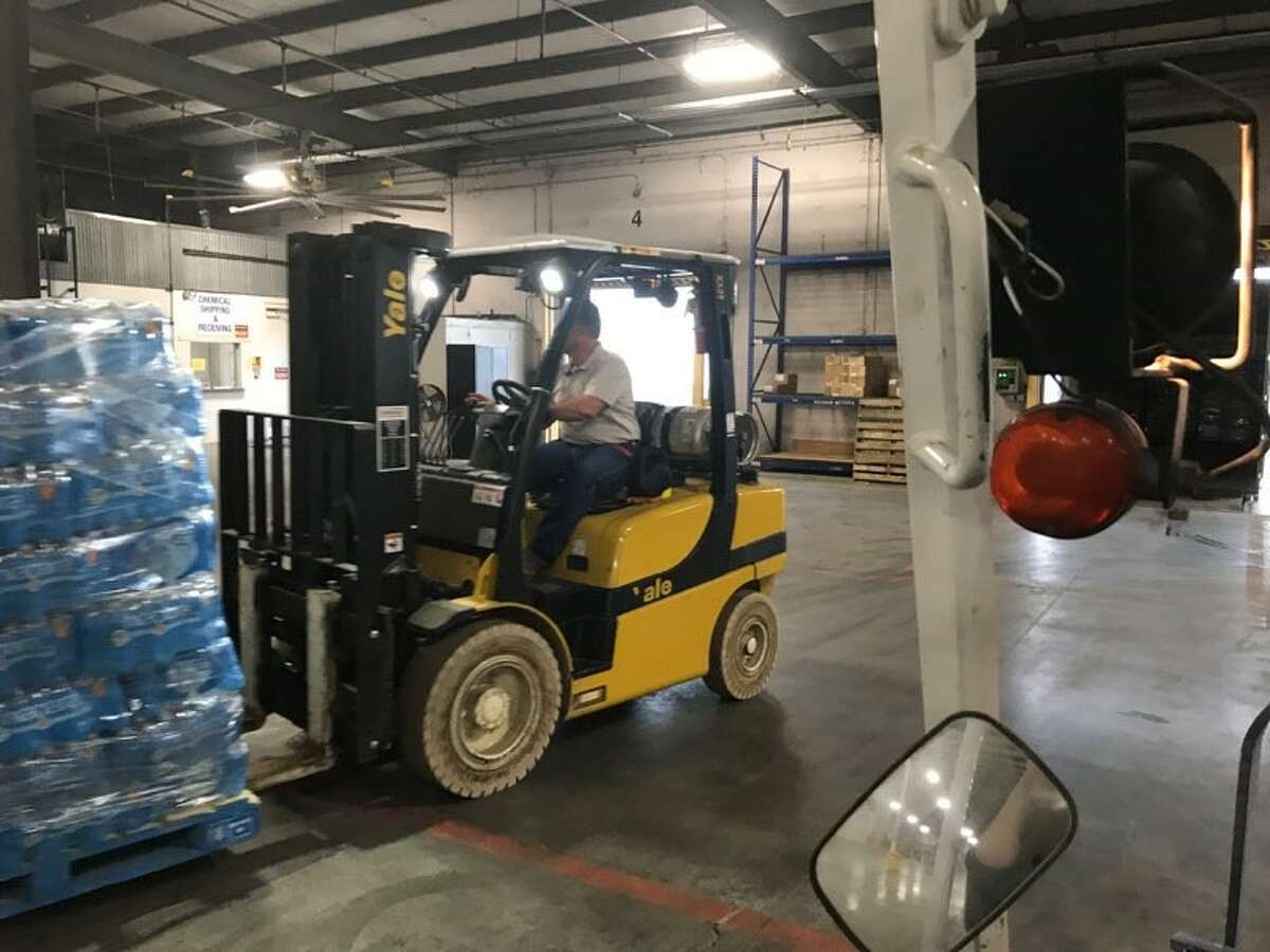 Salem Lutheran Church is using a Tomball warehouse for Harvey relief efforts. BJ Services donated the space.