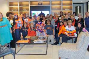 Much of the John Daugherty, Realtors Houston team gathered last week to celebrate Astros and Halloween spirit.