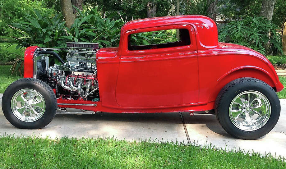 Starting with a new fiberglass body and frame, the 1932 Ford hot rod took about two years to complete. Photo: Courtesy Of Lin Harris