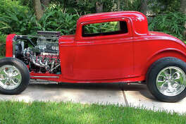 Starting with a new fiberglass body and frame, the 1932 Ford hot rod took about two years to complete.