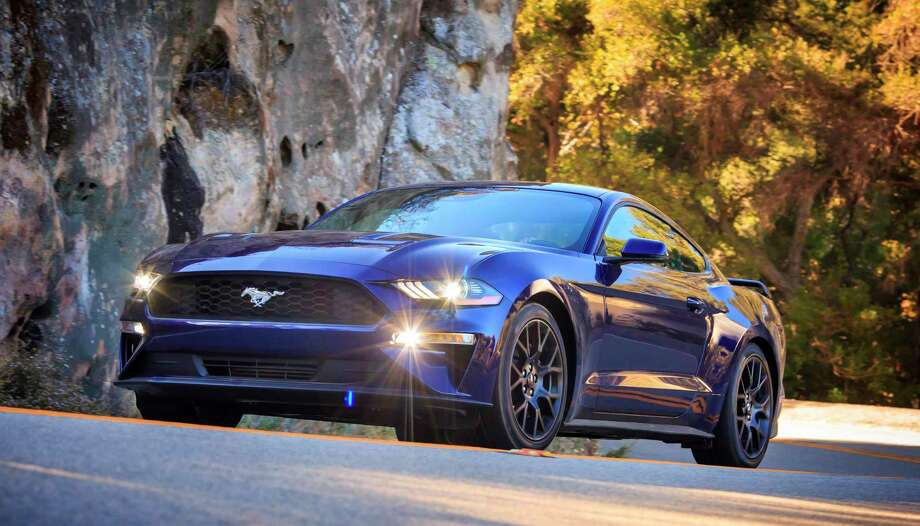 Along with a lower, restyled hood and grille, every 2018 Mustang uses LED lighting up front, including low-beams, projector high-beams, signature lighting and if equipped, fog lamps. Photo: Ford