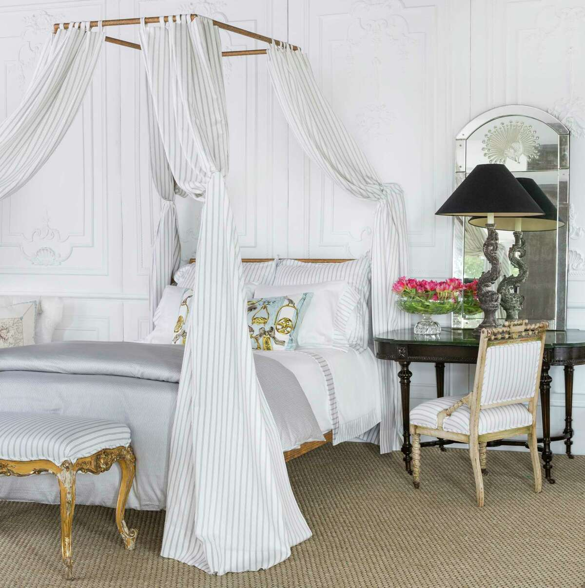 Karen Pulaski's Tribute Goods, 3637 W. Alabama, sells artful luxury bedding that's made in Italy. $150 and up
