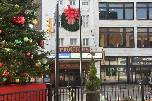 Decorations are seen in front of Proctor's on Friday, Nov. 17, 2017 before the Annual Daily Gazette Holiday Parade which is celebrating itÕs 49th anniversary tomorrow in Schenectady, N.Y. The theme for this yearÕs Capital Region tradition is ÒThe Holiday Parade of Lights: 125 Years of Schenectady.Ó (Lori Van Buren / Times Union)
