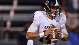 UTSA quarterback Dalton Sturm scrambles during the first half of the game against the FIU Panthers at Riccardo Silva Stadium on Nov. 4, 2017 in Miami, Florida.