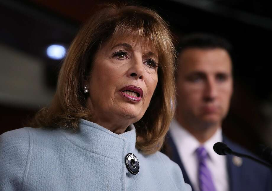 WASHINGTON, DC - NOVEMBER 15:  Rep. Jackie Speier (R) (D-CA) speaks at a press conference in Congress on November 15, 2017 in Washington, DC. Click through the gallery to see portions of the indictment against former Trump campaign chairman Paul Manafort. Photo: Win McNamee, Getty Images
