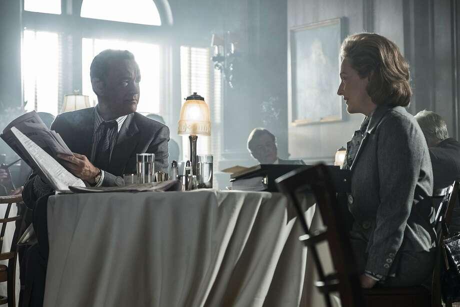 "Tom Hanks and Meryl Streep in ""The Post."" Photo: Niko Tavernise"
