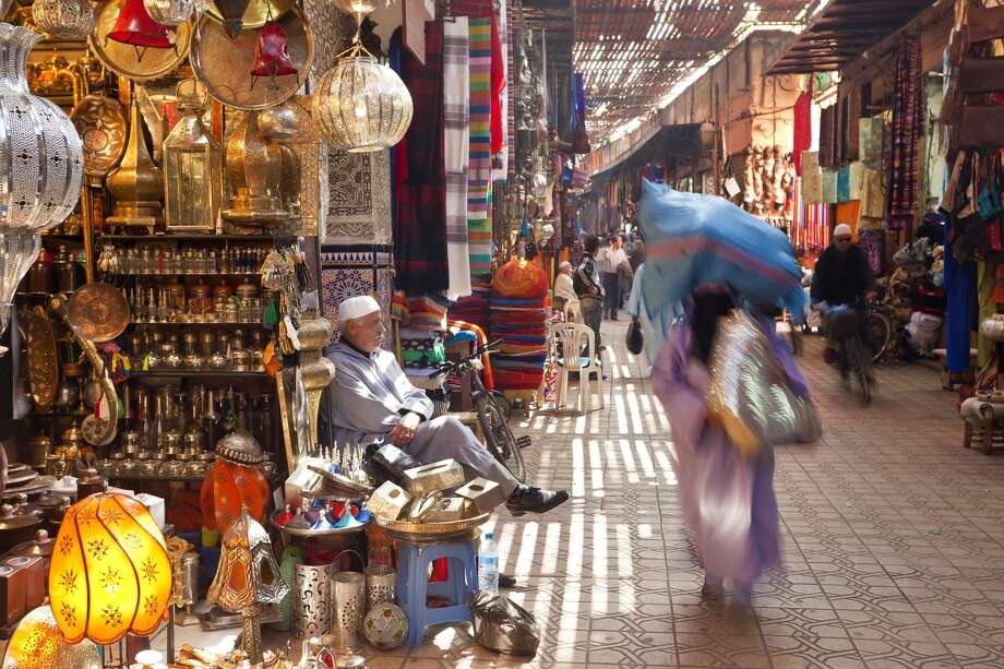 Inside a souk in Marrakech. Photo: Peter Adams / Getty Images