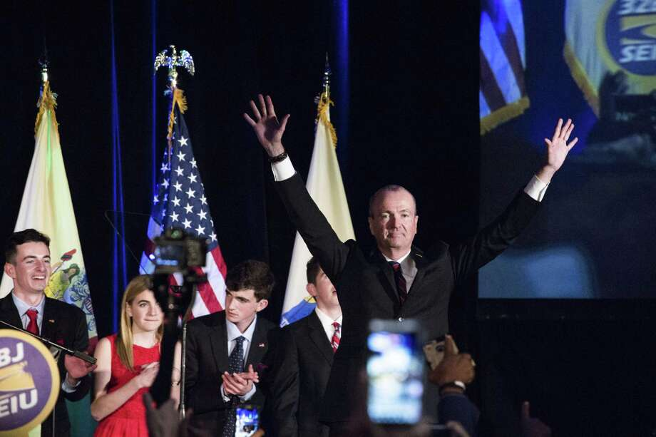 Phil Murphy, the Democratic candidate for New Jersey governor, speaks after his victory at his election-night party in Asbury Park, N.J., Nov. 7, 2017. Murphy defeated Kim Guadagno, a Republican and the second-in-command to New Jersey Gov. Chris Christie. (Bryan Anselm/The New York Times) Photo: BRYAN ANSELM, STR / NYT / NYTNS