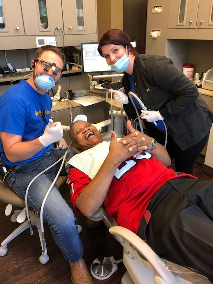Local dentist Dr. Seth Harris offered free dentistry to a veteran Nov. 11.