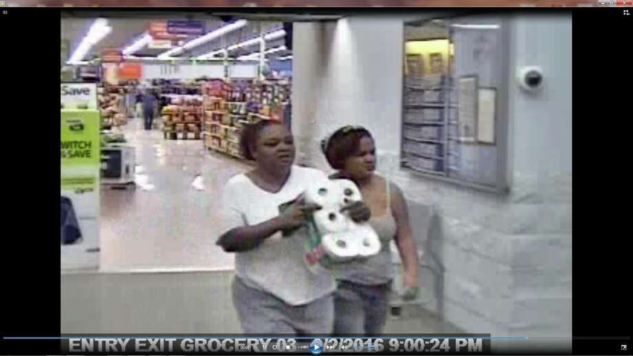 The Port Arthur Police Department is asking for help identifying the woman at left after she reportedly stole a wallet from the Port Arthur Wal-Mart in September 2016. Photo: Facebook