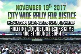 Community Activist Deric Muhammad said in a press release that he is organizing a rally to support NFL players protesting at NRG Stadium at 1:30 p.m. on Nov. 19, 2017.   Scroll through the gallery ahead to see how NFL players responded to the protests.