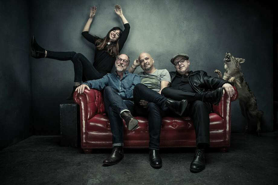 """Paz Lenchantin (left) joined David Lovering, Joey Santiago and Charles """"Black Francis"""" Thompson in the Pixies four years ago. Photo: Travis Shinn"""