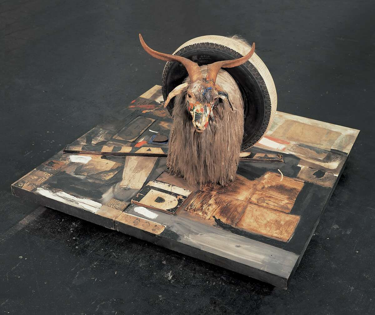 """FILE � In an undated handout photo, """"Monogram"""" by Robert Rauschenberg. In a move cutting against the grain of Modern and contemporary art, the Rauschenberg Foundation has adopted a policy of making images of the artist�s work much more widely available for free. (Robert Rauschenberg Foundation via The New York Times) -- NO SALES; FOR EDITORIAL USE ONLY WITH STORY SLUGGED RAUSCHENBERG FAIR USE BY KENNEDY FOR FEB.27, 2016. ALL OTHER USE PROHIBITED. �"""