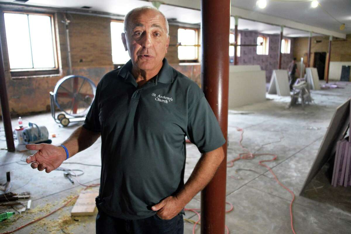 Frank Ranucci, seen in 2014 talking about his church's rebuilding after a fire, said he would like to see the board he sits on, the Schenectady County Board of Ethics, convened after years of stagnation. (John Carl D'Annibale / Times Union)