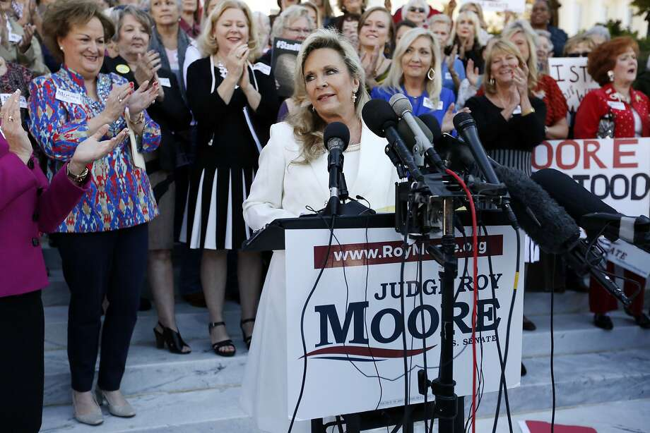 Kayla Moore, wife of GOP Senate candidate Roy Moore, addresses supporters in Montgomery, Ala. Photo: Brynn Anderson, Associated Press