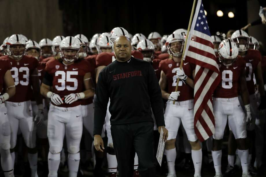 Stanford head coach David Shaw said the Cardinal's immediate goal is keeping the Axe, not winning the Pac-12. Photo: Marcio Jose Sanchez, Associated Press
