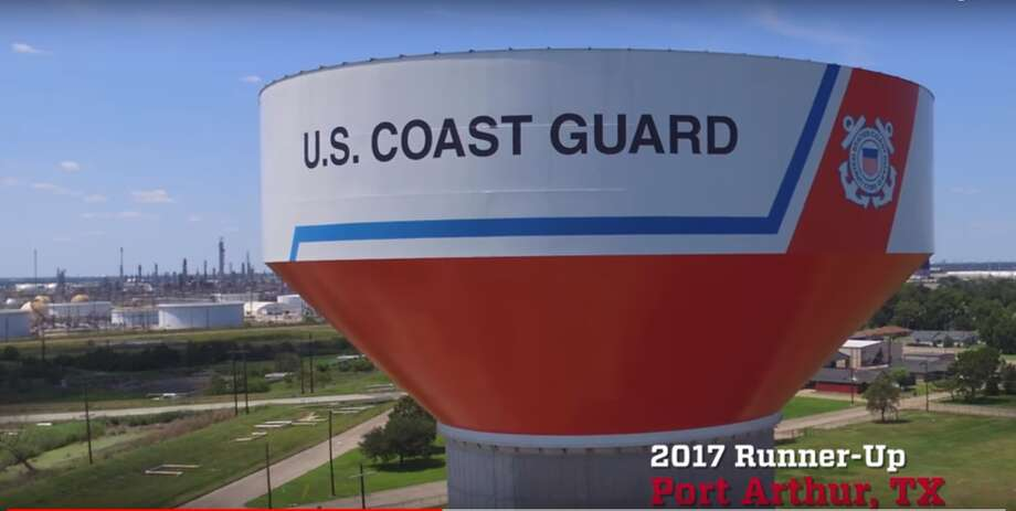 "Port Arthur's water tank was a runner-up in Tnemec Company's ""2017 Tank of the Year"" contest. The contest recognizes the most creative and innovative use of Tnemec Company's environmental coating materials. Photo: YouTube"