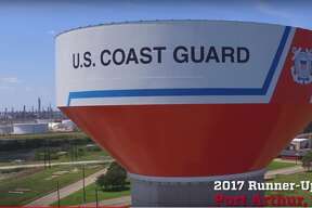 """Port Arthur's water tank was a runner-up in Tnemec Company's """"2017 Tank of the Year"""" contest. The contest recognizes the most creative and innovative use of Tnemec Company's environmental coating materials."""
