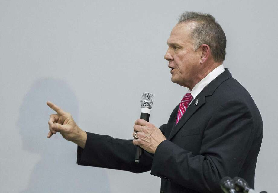 Judge Roy Moore, the Republican nominee for US Senate in Alabama, speaks at the God Save American Revival Conference at Walker Springs Road Baptist Church in Jackson, Alabama USA  on November 14, 2017.  Judge Moore has been facing accusations of sexual assault in the fast few days of his campaign. (Dan Anderson/Zuma Press/TNS) Photo: Dan Anderson, MBR / TNS / Zuma Press