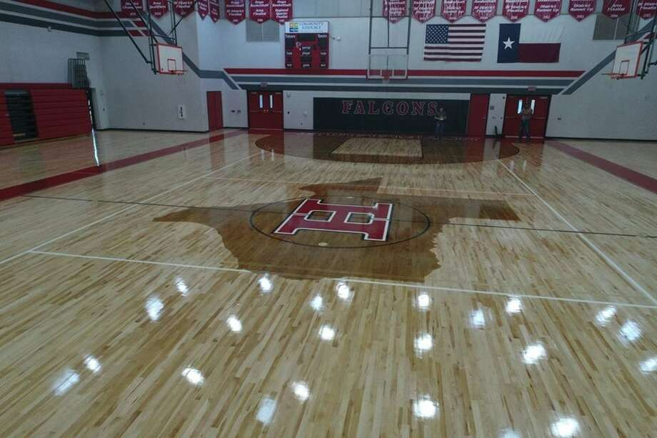The Hargrave Falcons competition gym has been upgraded after it was damaged from flooding during Hurricane Harvey. Photo: Courtesy