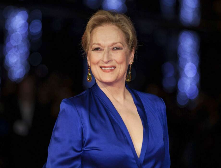 """FILE - This Oct. 7, 2015 file photo shows Meryl Streep at the premiere of the film """"Suffragette,"""" at the London film festival in London. Streep told the audience at the 27th annual International Press Awards in New York on Wednesday, Nov. 15, 2017, that has she experienced violence twice in her life, and the experiences changed her """"on a cellular level."""" (Photo by Grant Pollard/Invision/AP, File) Photo: Grant Pollard, Associated Press"""