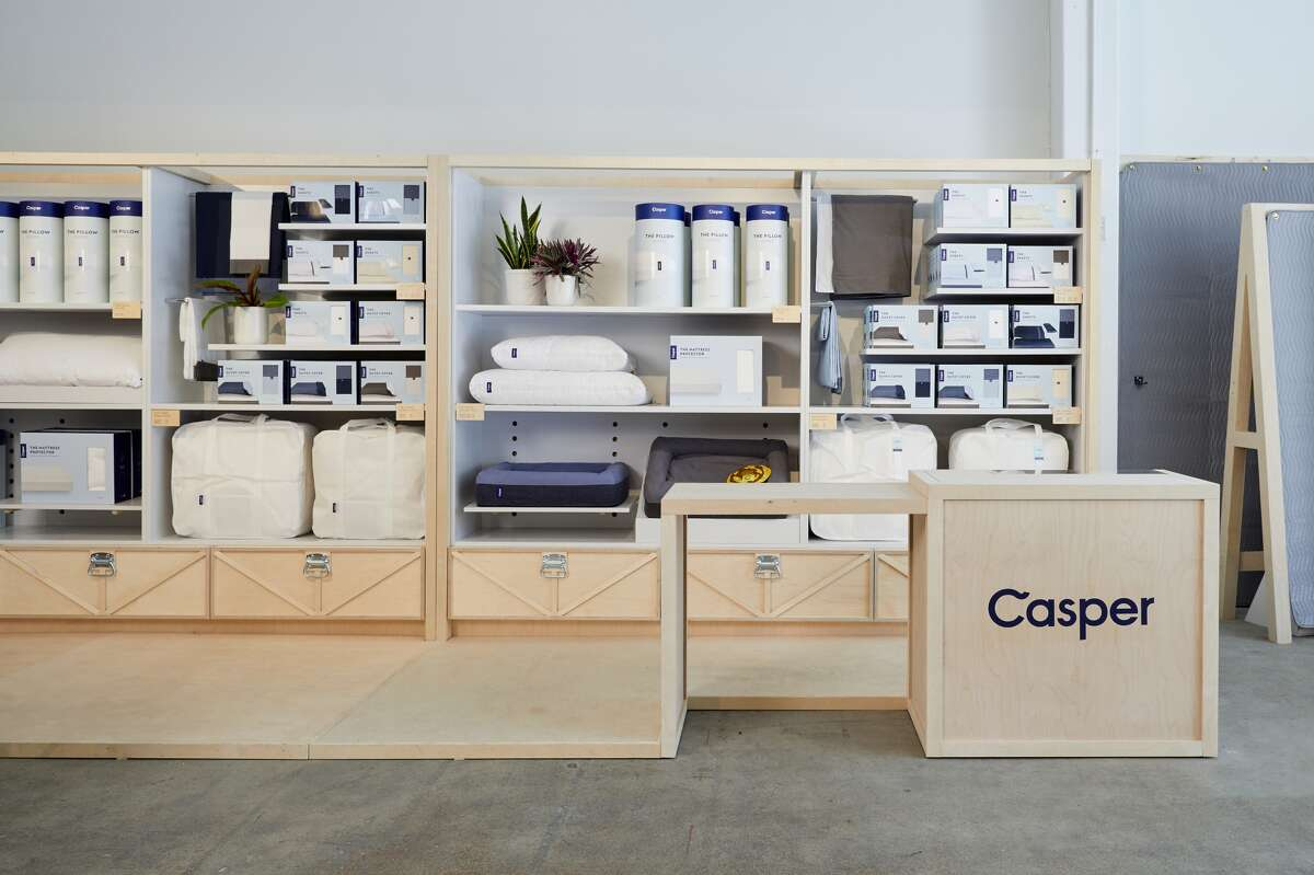 Casper's new store in The Galleria showcases products such as pillows, sheet sets and duvet covers.