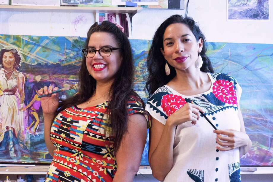 """San Antonio artist Adriana M. Garcia and writer Xelena Gonzalez teamed up to write """"All Around Us,"""" a children's book about Native American and Mexican American culture. Photo: Courtesy Photo"""