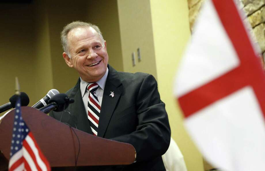 Former Alabama Chief Justice and U.S. Senate candidate Roy Moore speaks at the Vestavia Hills Public library in Vestavia Hills, Ala. A reader says Moore is being beiseged by false allegations of sexual misconduct. Photo: Hal Yeager /Associated Press / AP