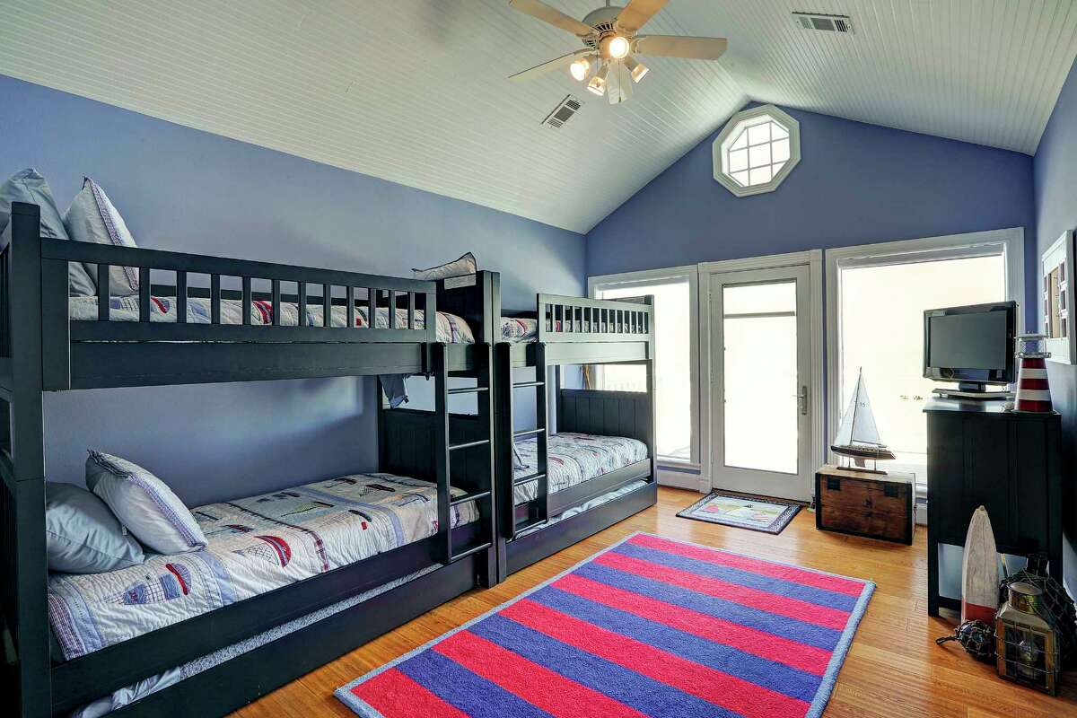 For the grandkids: The Joiners want plenty of space when their children and grandchildren visit. This bunk room has been a great place for their grandsons to crash.