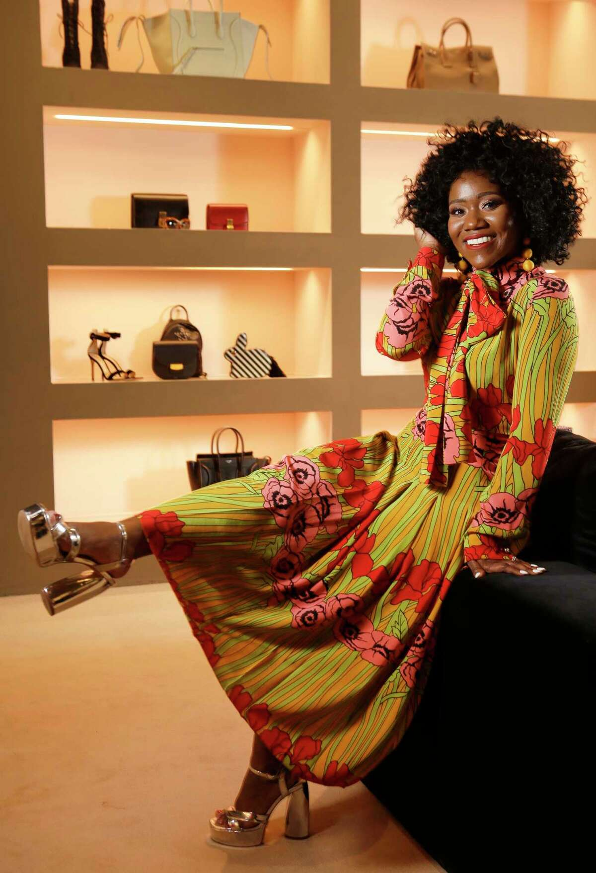 Fashion stylist Ashley Dunn poses at The Webster at the Galleria, 5045 Westheimer Rd., Tuesday, July 18, 2017, in Houston. ( Melissa Phillip / Houston Chronicle )