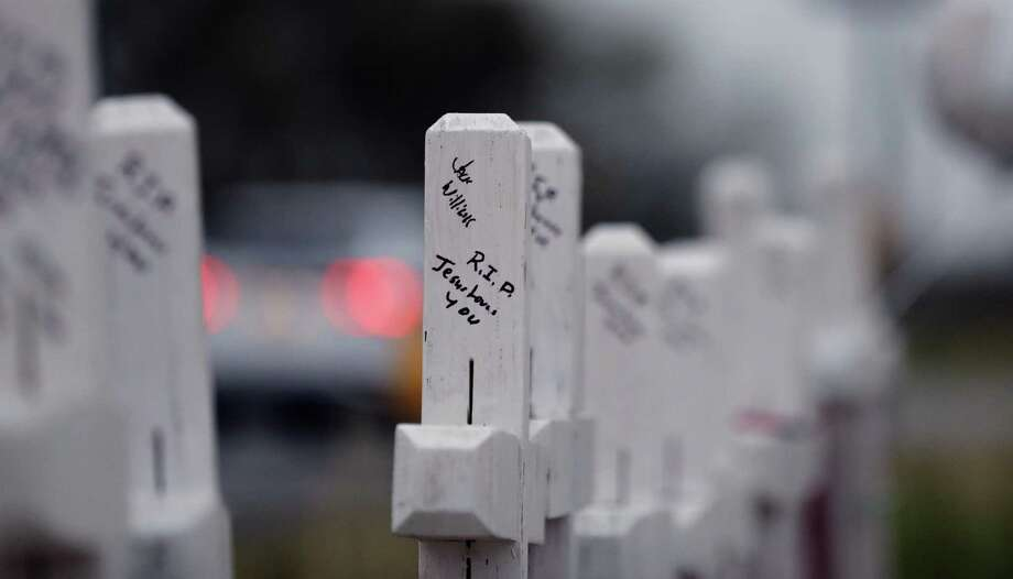 """""""I never thought it would happen here."""" That's what was said in Sutherland Springs after the mass shooting. But solutions can happen here in Texas, too. Photo: Eric Gay /Associated Press / Copyright 2017 The Associated Press. All rights reserved."""