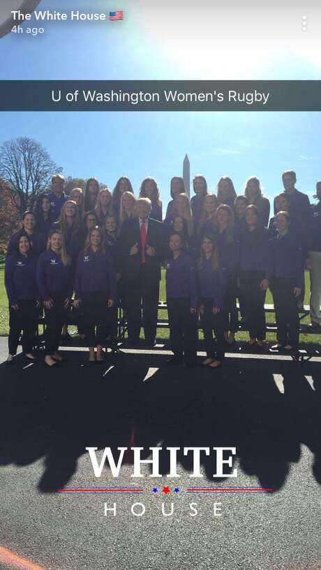 This is the University of Washington's women's rowing team, not the women's rugby team. Photo: Snapchat