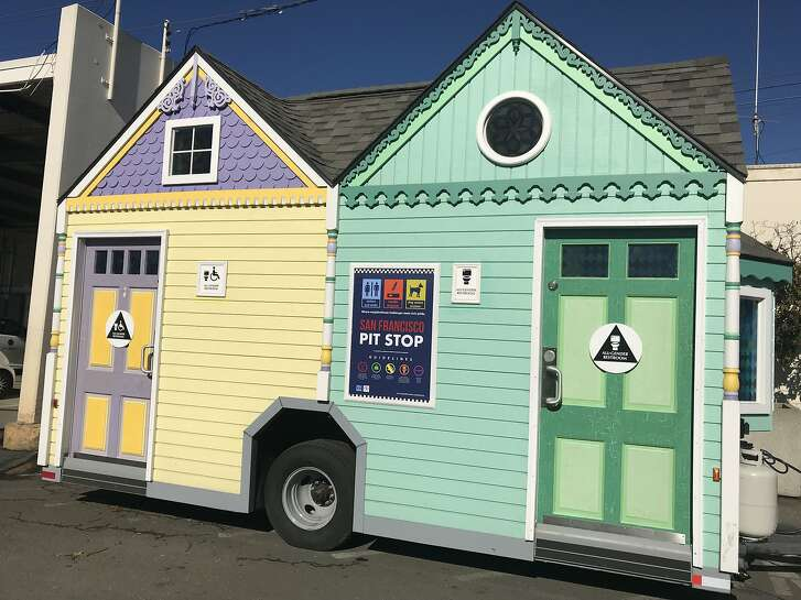 "San Francisco's Public Works rolls out its ""Painted Lady"" portable toilet just in time for World Toilet Day 2017.   The new latrine is being added to its citywide Pit Stop public toilet program aimed at keeping city sidewalks from being used as toilets."