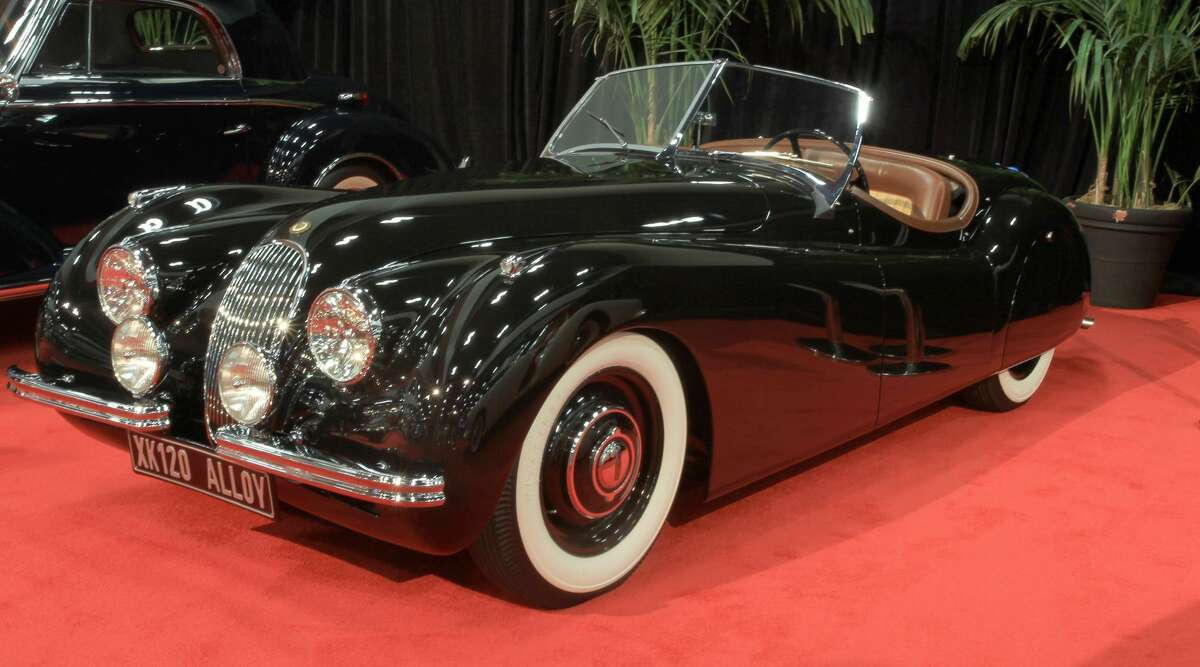 The 1950 Jaguar XK120 alloy will be part of a display of automobiles ranging from the 1920s to 2016, including cars specially selected to celebrate the auto show's six decades.