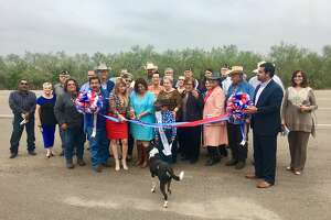 Officials and residents of San Ygancio held a ribbon-cutting ceremony for the newly expanded Highway 83 on Thursday morning.
