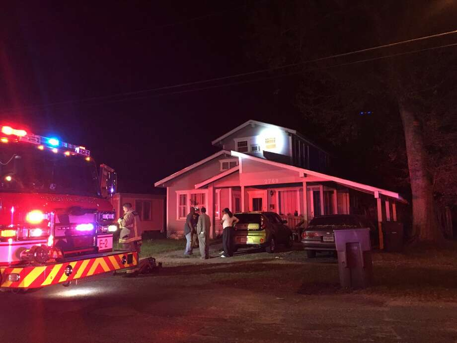 Port Arthur Fire Department responded to two calls in a row to reports of house fires Friday evening. Photo: Krista Chandler