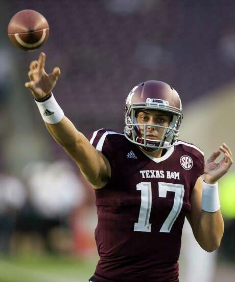 Texas A&M quarterback Nick Starkel will be the fifth different quarterback in the last six seasons to start for the Aggies against Mississippi. Photo: Sam Craft, FRE / AP